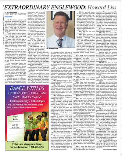 Article about Dr. Howard Liss